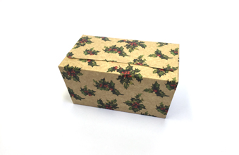 Kraft Holly 1000g sized Ballotin - Gift Carton Ideal for the festive season