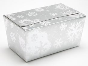 Silver Snowflake 1000g sized Ballotin - Gift Carton Ideal for the festive season