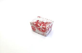 Red and White Snowflake 100g sized Ballotin - Gift Carton Ideal for the festive season