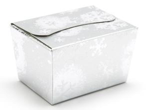 Silver Snowflake 100g sized Ballotin - Gift Carton Ideal for the festive season
