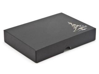 Black 12 Choc sized Wibalin Christmas Tree Design Foiled Lid - Fold-up Gift Box Lid Ideal for the festive season