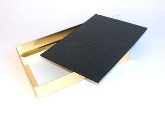 Black 24 Choc sized Cushion Pad - Confectionery Packaging Insert Pad Ideal for all occasions