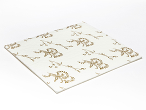 White 25 Choc Square sized Cushion Pad - Confectionery Packaging Insert Pad Ideal for all occasions