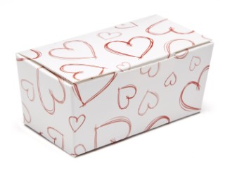 Light Hearts 2 Choc sized Ballotin - Gift Carton Ideal for Valentine's occasions or wedding or gifting