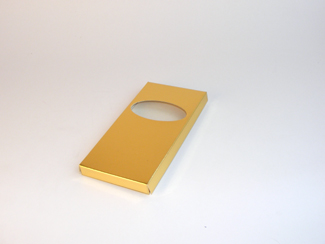 Gold Choc Bar Carton (Wrap) - Single-Piece Wrap Around Gift Carton Ideal for all occasions