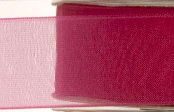 Fuschia Chiffon Ribbon - Reel of Ribbon Ideal for Spring-Summer occasions