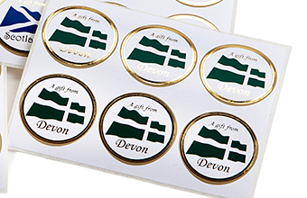 Green and  Black and White 32mm sized Round Gift Label - Self-Adhesive Label Ideal for Extra Special occasions