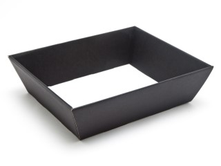 Black Medium sized Card Hamper Tray - Fold-up Tapered Gift Tray Ideal for Christmas or Gifting occasions