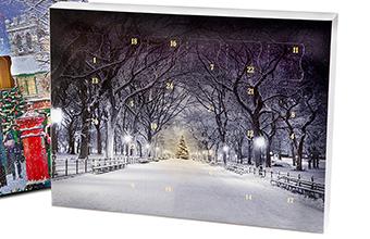 Christmas Snow Scene Premium Deluxe Advent Calendar sized - Fill it Yourself Advent Calendar Box Ideal for the festive season