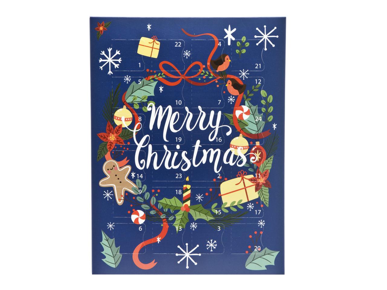 Wreath Premium Deluxe Advent Calendar sized - Fill it Yourself Advent Calendar Box Ideal for the festive season