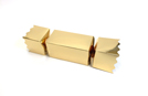 Gold Extra Large sized Twist End Cracker - Twist-Lock Gift Packaging Cracker Carton Gift Carton Ideal for the festive season