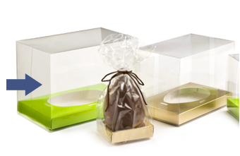 Clear 155x178x222 sized Rectangular Transparent Carton - Gift Carton Ideal for all occasions or Easter